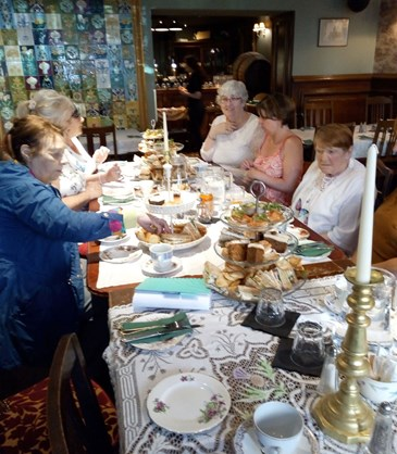 <p>Laughter and reminiscence at our Afternoon Tea with the Ladies. </p>