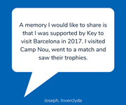 Joseph, from Inverclyde, shares a favourite  holiday memory.