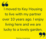 Norma shares her feelings about moving into her own home.