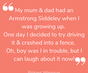 Richard shares a funny story from his childhood.