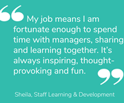 Sheila shares what her job means to her