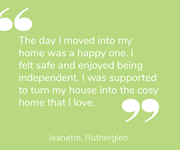 Jeanette talks about her home
