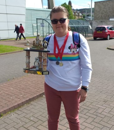 <p>Double medal success for Laura at swim gala.</p>